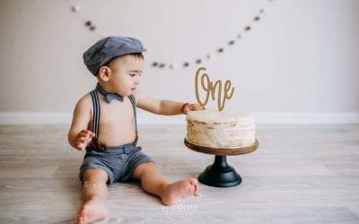 Daniil Turns ONE | Studio Cake Smash Photographer | Ingleburn, Sydney