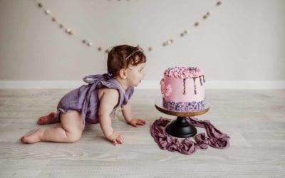 Evelyn Turns ONE | Sydney Cake Smash Photographer | Ingleburn